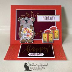Beary Comforting Paper Pumpkin Kit by Stampin' Up! Easel Cards, Get Well Cards, Paper Pumpkin, Tissue Boxes, My Stamp, Stamping Up, Embossing Folder, Paper Design, Pumpkin Ideas