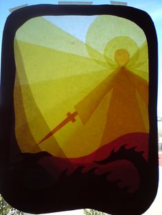 window transparency, fall, waldorf