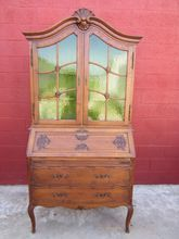 French Antique Secretary Bookcase Desk Break Front Antique Furniture