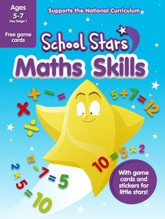 Want to shine bright in school? Our School Stars learning helpers are packed with amazing extras that give you the edge in class. Such as this book: with lovely bright stickers and activities to help you master first maths. How can you add and subtract quickly? What tricks will help you work out fiddly sums? How can you remember what you learn? Find out in this exciting book of maths practice, which includes playing cards for your own number games. Math Class, Math Skills, Maths, Key Stage 1, Reward Stickers, National Curriculum, Free Cards, Number Games, Adding And Subtracting