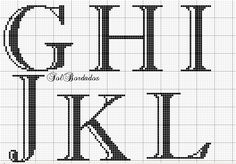 Cross Stitch Alphabet Patterns, Bead Loom Patterns, Alphabet Blocks, Alphabet And Numbers, Cross Stitching, Cross Stitch Embroidery, Stitch Cartoon, Xmas Stockings, Loom Beading