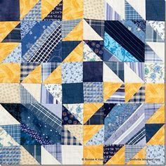 Something Blue. Bonnie Hunter's block for Quiltmaker Magazine's 100 Blocks, volume 10