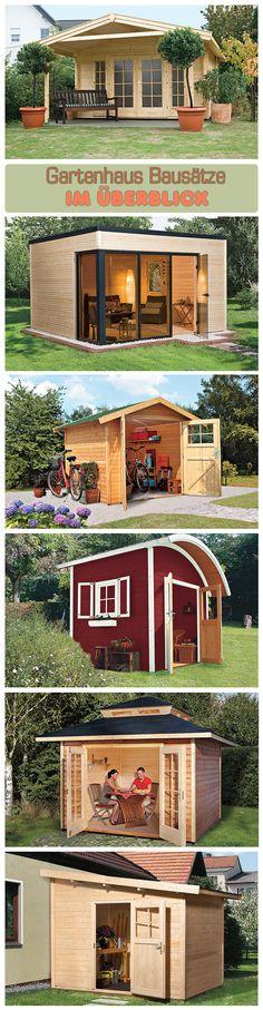 Ein Gartenhaus ist nicht immer nur Stauraum für Rasenmäher und Co. Es kann auch ein toller Ort zum Entspannen sein. Wir zeigen verschiedene Bausätze im Überblick.
