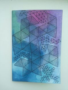 #card #diy #geometric #galaxy #watercolors