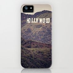 The pillow featuring this artwork will be given to attending press at GBK's 2013 Primetime Emmys Gift Lounge in Los Angeles, California.   Old Hollywood - Iphone 4, 4s, 5 & Samsung Galaxy s3, S4 Case - California, Hollywood Sign, Film, Cali, Movie, Cinema, Green, Vintage