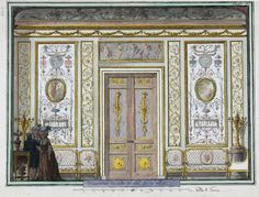 Interior elevation of the salon of the Hôtel Grimod de La Reynière, Paris