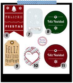 Freebies. Etiquetas regalos de Navidad imprimibles y gratis 1/2
