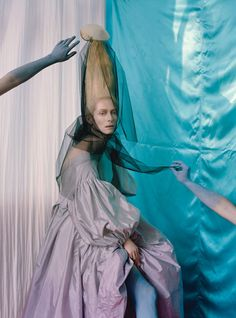 Tilda Swinton in Las Pozas (Mexico) by Tim Walker for W May 2013