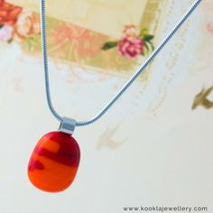Kookla Jewellery handmade creation from our latest range in tangerine and garnet red.