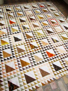Marty's Fiber Musings:  a multitude of half-square triangles