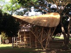 Bamboo space frame playground - Bamboo Earth Architecture - Chiangmai Life Construction