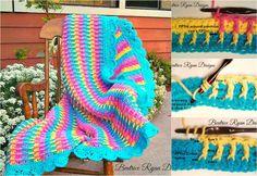 Gorgeous Rainbow Dash Baby Blanket [Super Stitch – Free Pattern] | Styles Idea