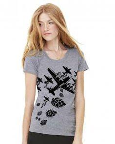 Craft Beer Hop Bomber Women's Graphic Tee from BrewerShirts #beer #craftbeer #funnytshirts