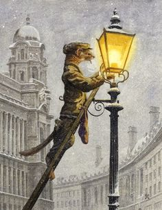 Chris Dunn Illustration/Fine Art: 'Lamplighter'
