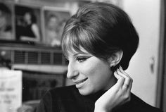"""Barbara Streisand"" Photo- Harry Benson (Born- Scotland 1929 - ) USA - New York, 1964 Harry Benson, Bobby Fischer, Barbara Streisand, Celebrity Pixie Cut, Hooked Nose, Kings & Queens, Big Noses, Diana Vreeland, Girl Humor"