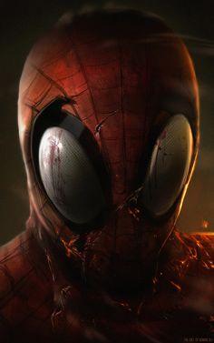 Spiderman , Adnan Ali on ArtStation at https://www.artstation.com/artwork/LEL6P