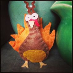 Felt Turkey.  Handmade by Robinson&Co. gobble gobble!