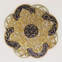 Brass Filagree Button