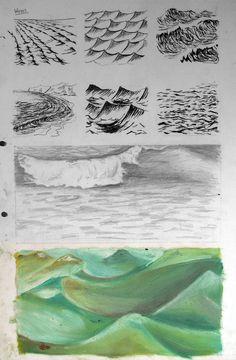 sea styles GCSE-art-ideas-sketchbook