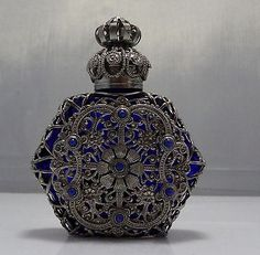 Wholesale Decorative Perfume Bottles Czech Glass Handmade Oil Perfume Holy Water Bottle 451015