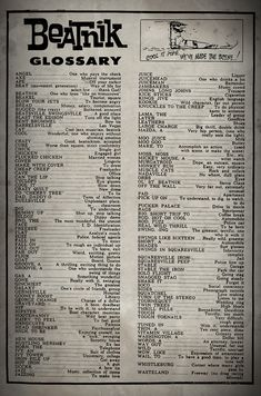 The Original Beatnik Glossary