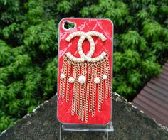 iPhone case iPhone cover  red leather case  handmade  by dnnayding, $21.99