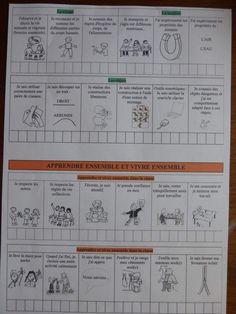 cahier de reussites 2015 la classe de pépé Evaluation, French Language, Bullet Journal, Voici, School, Montessori, Kids, Middle School Grammar, Classroom
