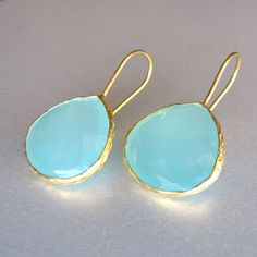 Gold & #turquoise from TangerineJewelryShop on Etsy