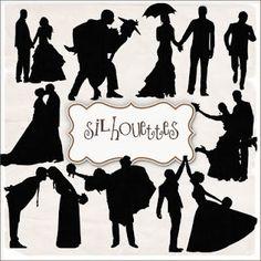 Free wedding silhouettes