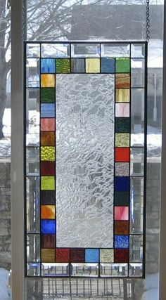 Scintillating Stained Glass Window Panel EBSQ Artist - Stained Glass Panels - Ideas of Stained Glass Panels Modern Stained Glass, Faux Stained Glass, Stained Glass Designs, Stained Glass Panels, Stained Glass Projects, Stained Glass Patterns, Leaded Glass, Mosaic Glass, Modern Glass