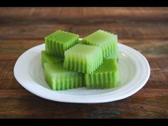Seasaltwithfood: Pandan Jelly With Coconut Milk (Pandan Agar-Agar)