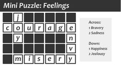 Puzzles And Answers, Cv Format, Jealousy, Feelings, Mini, Resume Format, Envy, Blind