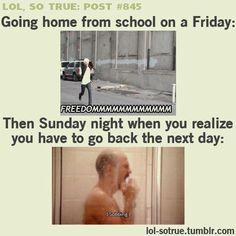 lol so true post   Tumblr  @Kelly Staszak especially after a week off!!