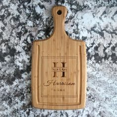 Personalized Handled Cutting Boards with Juice Grooves Harrison