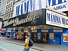 Winter Garden Theatre, 1634 Broadway at West Street, New York City. Winter Garden Theatre, City That Never Sleeps, Mamma Mia, In Boston, Winter Scenes, 20 Years, New York City, 50th, Canon