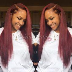 H&F Straight Virgin Human Hair 3 Bundles Natural Black Black Girls Hairstyles, Pretty Hairstyles, Burgundy Hairstyles, Weave Hairstyles, Straight Hairstyles, Baddie Hairstyles, Red Hair Extensions, Afro, Short Hair Styles