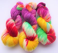 Fine Merino Socks hand dyed yarn hand painted sock yarn: