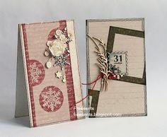 В деле - зимний и летний дизайны чипборда в новогодних открытках от Ирины-freesents