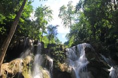 Top of the Kouang Si waterfalls, Laos
