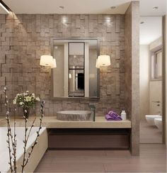 Modern residence bathroom