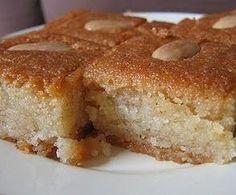 BASBOUSA DE COCO  60 gr de mantequilla 150 gr de semola de trigo 150 gr de azucar 75gr de coco rallado 50 gr de harina 20 ml de leche 10 g...