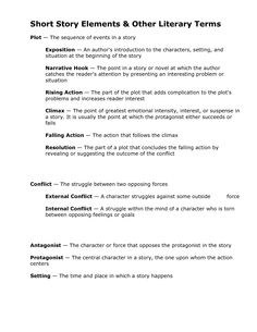 Worksheets Elements Of Fiction Worksheet literature shorts and story elements on pinterest of setting short other literary terms