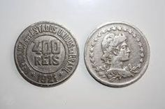Real (Reis) brasileiro (1790-1942)  (x) 400 reis (1918-1935) O: efígie da…
