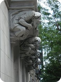 Gargoyles (Grotesques) on Upper West Side, NYC - Sonja Stark on flickr