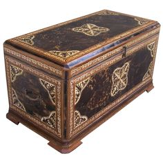 Very Rare East Indies Tortoise and Ivory Trunk
