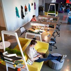 Un exemple de bureaux pour la 'Creative Class', de plus en plus présente à Québec. An excellent example of offices for the rising Creative Class.