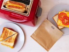 Toaster Bags for making grilled cheese. I ❤ Grilled Cheese!