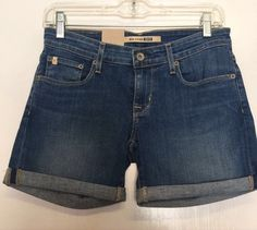 NWT BIG STAR REMY Blue Jean SHORT Size 26 Low Rise Women Bermuda Beach Spring #BIGSTAR #CasualShorts