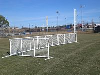 moveable PVC pipe and mesh fence
