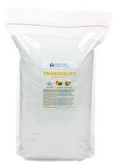 Tranquility Bath Salt 8 Pounds Bulk Size 128 Ounces - Pure Epsom Salt With & & C